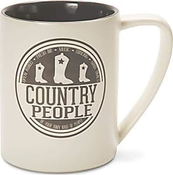 Pavilion Gift Company 67004 Country People Ceramic Mug, 18 oz, Multicolored