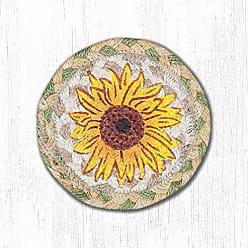 Earth Rugs CS-529S-6 Coaster Set 5x5 Yellow