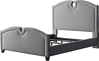 CorLiving BBT-260-S Grey Fabric Curved Top Bed Twin/Single