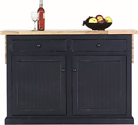 Eagle Furniture 53 in. Coastal Stationary Kitchen Island with Flip-Up Top - 72117NGAS