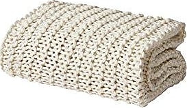 Five Queens Court Leon Chunky Knit Soft Throw, Ivory