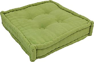 Blazing Needles Square Corded Floor Pillow with Button Tufts, 20, Mojito Lime