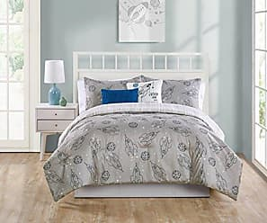 VCNY Home VCNY Home 5 Piece Blast Off Comforter Shams and Decorative Pillows Set, Full/Queen, Grey