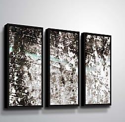 Brushstone Reflection IV Panel Wall Art - 3 Piece Set Framed - 6ARY061C2436F
