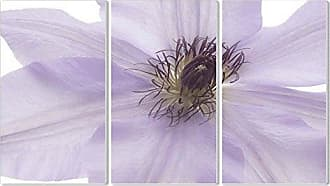 Stupell Industries Stupell Home Décor Purple Flower 3-Piece Triptych Wall Plaque Set, 11 x 0.5 x 17, Proudly Made in USA