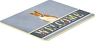 20 x 30 Multicolor Carolines Treasures BB7635CMT Welcome Friends White French Bulldog Kitchen Mat