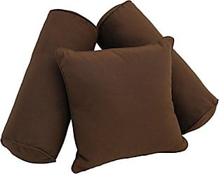 Blazing Needles 9816-S3-CD-TW-EG Double-Corded Solid Twill Throw Pillows with Inserts (Set of 3), Natural