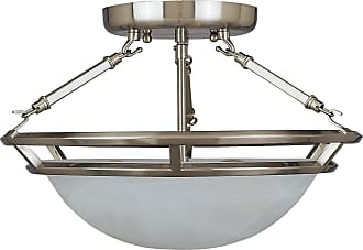 Maxim Lighting Maxim 2670MRPE Stratus 3-Light Semi-Flush Mount in Pewter with Marble glass