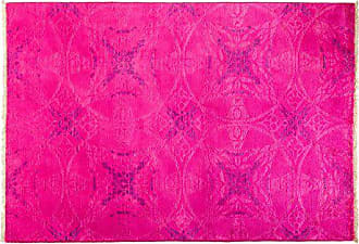 Solo Rugs Vibrance Hand Knotted Area Rug, 4 3 x 6 1, Pink