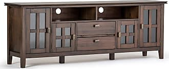 Simpli Home Artisan Solid Wood 72 TV Media Stand in Natural Aged Brown