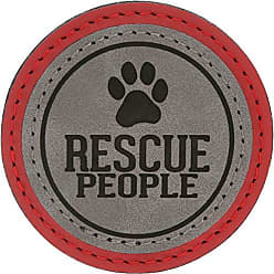 Pavilion Gift Company 67642 2.5 Inch Round Refrigerator Magnet Rescue Dog/Cat People Red
