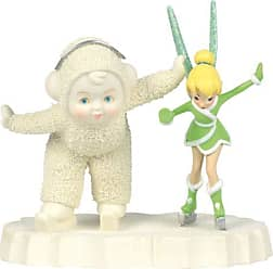 Enesco Department 56 Snowbabies and Disney Skating with Tinker Bell Porcelain Figurine, 4