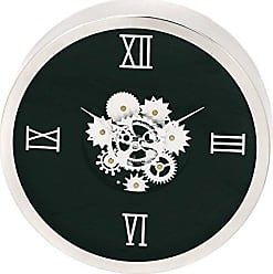 Urban Designs Industrial Gear Round Wall Clock, Black