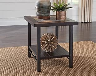Ashley Furniture Gallivan End Table, Two-tone Brown