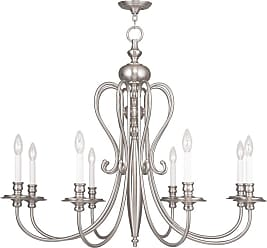 Livex Lighting 5168 Caldwell 8 Light 1 Tier Chandelier Polished Nickel