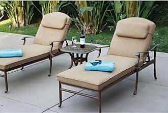 DARLEE Sedona 3 Piece Aluminum Outdoor Chaise Lounge Set - 201030-3PC-3360A-AB