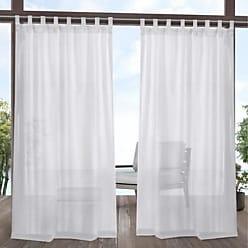 Exclusive Home Miami Window Curtain Panel Pair - White - Size:54 x 84