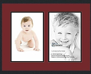 Art to Frames Collage Photo Frame Double Mat with 2 - 8x12 Openings and Satin Black Frame
