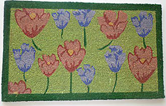 Geo Crafts Vinyl Back Tulips Doormat