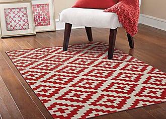Garland Rug Southwest Area Rug, 5 x 7, Chili Red/Ivory