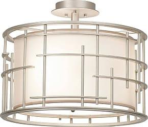 Kalco Atelier 14 Semi Flush in Tarnished Silver