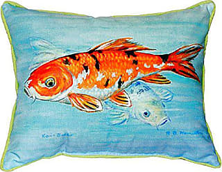 Betsy Drake SN117 Koi Small Indoor/Outdoor Pillow, 11 x14