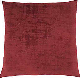 Monarch Specialties Decorative Throw Pillow, Brushed Velvet, Red, 1pc