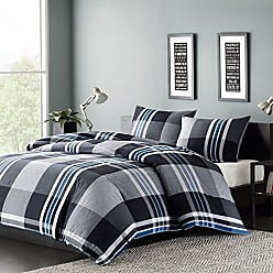 Ink + Ivy Ink+Ivy Nathan Full/Queen Comforter Set Teen Boy Bedding - Grey, Plaid - 3 Piece Bed Sets - 100% Cotton Yarn Bed Comforter