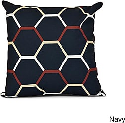 E by Design E by design Cool Shades Geometric Print Pillow 26 x 26 Navy Blue