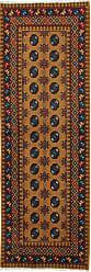 Nain Trading Handknotted Afghan Akhche Baghlan Rug 80x28 Runner Dark Grey/Brown (Wool, Afghanistan)