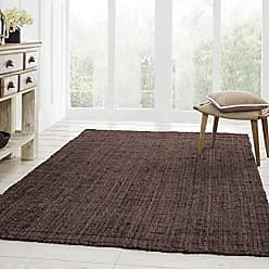 Home City Inc. Superior Reversible Kula Jute Area Rug, 5 x 8, Chocolate