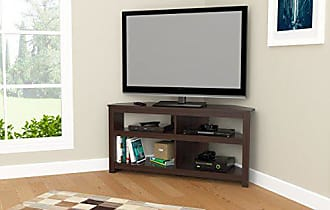 Inval America Inval MTV-13519 Espresso Wengue Wood 50 Corner TV Stand
