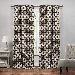 Duck River Textile Blackout365 Kristin Heavy Geometric Insulated Blackout Room Darkening Curtain Set of 2 Panels, 37 X 84 Inch, Chocolate, 2 Piece