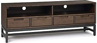 Simpli Home Simpli Home AXCBAN-07 Banting Solid Hardwood 60 inch Wide Modern Industrial TV Media Stand in Walnut Brown for TVs up to 65 inches