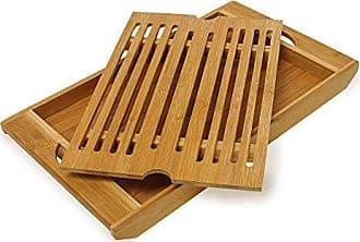 rustikal Relaxdays Servierbrett Schneidebrett Schiefer Platte Bambus Griff grau H x B x T: 1,8 x 45 x 22,5 cm