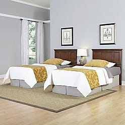 Home Styles Chesapeake Two Classic Cherry Twin Headboards and Night Stand by Home Styles