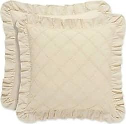 Five Queens Court Andrea 18 Square Decorative Throw Pillow, Blush, 18x18