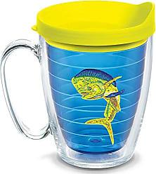 Trevis Tervis 1134103 Guy Harvey - Real Dorado Tumbler with Emblem and Neon Yellow Lid 16oz Mug, Blue
