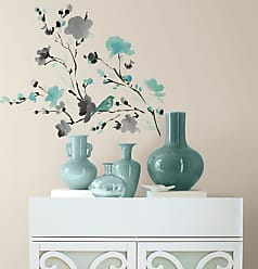 RoomMates Roommates Blossom WaterColor Bird Branch Peel and Stick Wall Decals - RMK2687SCS