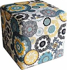 Nay Multicoisas Puff Quadrado Decorativo Floral Mandala - Nay Estofados