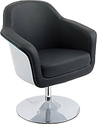 CorLiving DLN-100-C Mod Collection Accent Chair, Black/White
