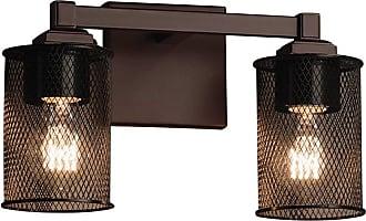 Justice Design Wire Mesh Regency MSH-8432-10 Vanity Light - MSH-8432-10-NCKL