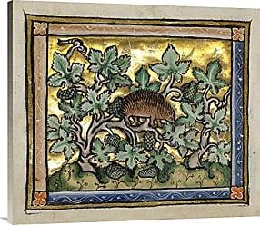 Bentley Global Arts Global Gallery Budget GCS-454752-36-142 Franco-Flemish 13th Century A Hedgehog (Detail) Gallery Wrap Giclee on Canvas Wall Art Print