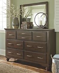 Ashley Furniture Brossling Dresser and Mirror, Dark Brown
