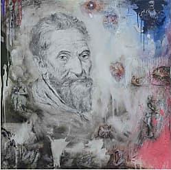 Louis Leonard Art Michelangelo by Chengju Li Canvas Wall Art Print - CHL002-1818