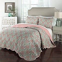 Ellery Homestyles Traditions by Waverly 15218BEDDKNGOPL Anatalya 104-Inch by 90-Inch 3-Piece King Quilt Collection, Opal