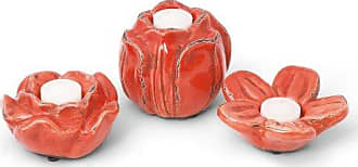 Foreside Home And Garden Foreside Prosecco Votive, Persimmon, Set of 3
