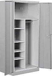 Salsbury Industries Combination Heavy Duty Storage Cabinet, Unassembled, Gray