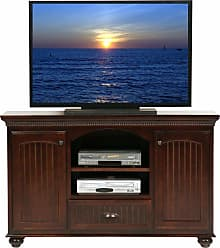 Eagle Furniture American Premiere Customizable 58 in. Entertainment TV Stand with 2 Doors - 16156WPCR