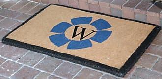 First Impression Floella Double Door Monogrammed Entryway Door Mat - FM2005A
